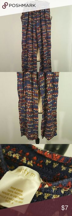 Matty M Rayon Soft Boho Festival Tribal Pant S This brand is matty m. Size small. 100% Rayon.   🐘nonsmoking home Matty M Pants Track Pants & Joggers