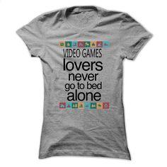 Video Games lovers never go to bed alone Shirt  T Shirt, Hoodie, Sweatshirts - custom tshirts #tee #clothing