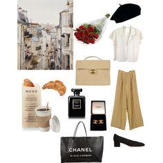 SHOPPING IN PARIS by lestwiz on Polyvore featuring moda, agnès b., rag & bone, Mansur Gavriel, Chanel, ASOS, WALL and Martha Stewart