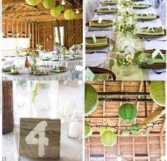 Un mariage en vert anis