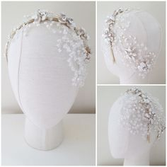 May Blossom Bespoke Forehead Crystal Detail Headdress | http://www.hermioneharbutt.com/wedding/hair_accessories/buy.php?Product=320&Title=May+Blossom+Double+Headdress