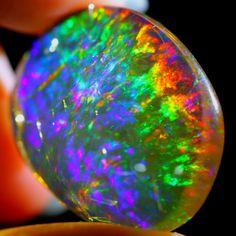 27.05Ct Rainbow ContraLuz Ethiopian Welo Polished Specimen Crystal Opal