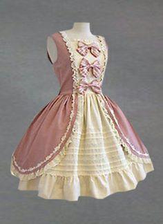 Sleeveless Bow Cotton Classic Lolita Dress, ocrun.com