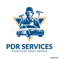 Paintless Dent Repair logo, PDR service logo, automotive company - Buy this stock vector and explore similar vectors at Adobe Stock Strawberry Shortcake Characters, Service Logo, Logos, Birds In Flight, Stock Photos, Illustrations, Style, Flying Birds, Stylus