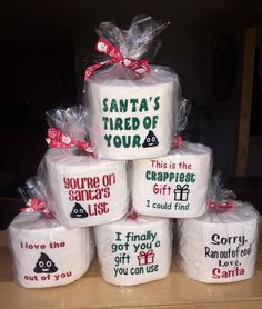 Christmas Toilet Paper Rolls