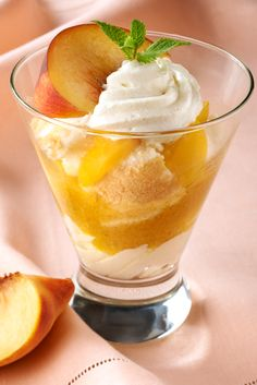 Peach & passion fruit parfait