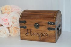 Personalized Keepsake Box, baby keepsake box, wedding keepsake box, engagement b. Wedding Keepsake Boxes, Baby Keepsake, Wedding Keepsakes, Engagement Box, Kids Toy Boxes, Diy Gift Box, Gift Boxes, Monogram Fonts, Stain Colors