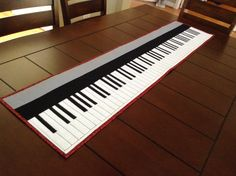 """Quilted Piano Keyboard, fabric by Whistler Studios """"Let There Be Music"""". All 88 keys! SOLD"""