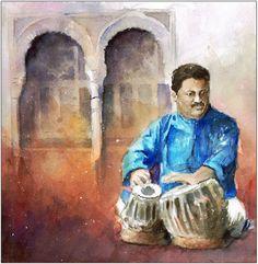 INDIALUCIA III - playing on tabla