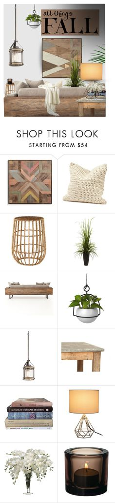 """""""Fall home decor - contest entry"""" by tanyaf1 ❤ liked on Polyvore featuring interior, interiors, interior design, home, home decor, interior decorating, Grandin Road, Coyuchi, Dot & Bo and Nearly Natural"""