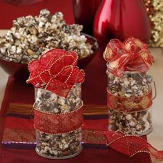 Holiday Popcorn - Whether you're looking for an easy food gift or just something sweet to munch on during a holiday movie marathon, these sweet and savory popcorn recipes are just as fancy, and just as delicious, as the expensive gourmet varieties.