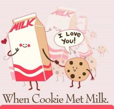 Luv at first site! ♥ Love Is When, Love You, Best Funny Pictures, Cute Pictures, Dynamic Duos, We Go Together, Milk Cookies, Oatmeal Chocolate Chip Cookies, Love Chocolate