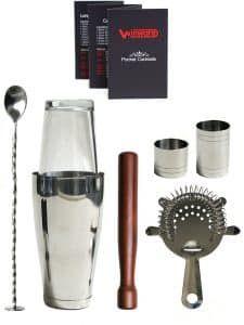 5. Winware Boston Cocktail Shaker Gift Set