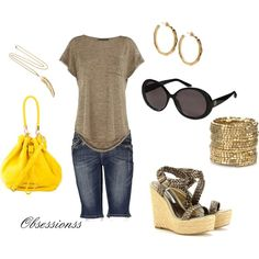 """""""Touch of yellow"""" by obsessionss on Polyvore"""