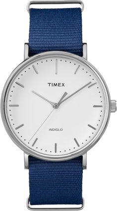 ba95432ab77 Timex Blue  amp  Silver Weekender Round Analog Watch - Women Timex Watches