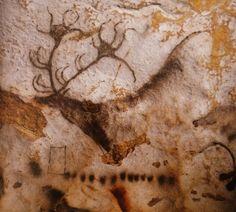 Lascaux - Cerf et inscription