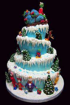 Dr Seuss ~ the grinch who stole christmas cake