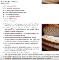 Delish Banting bread Coconut Flour, Almond Flour, Banting Bread, Sandwich Bread Recipes, Banting Recipes, How To Make Bread, Melted Butter, Grain Free, Baking Soda