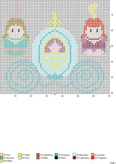 CINDERELLA-2 Plastic Canvas Ornaments, Plastic Canvas Crafts, Plastic Canvas Patterns, Cinderella Crafts, Embroidery Patterns, Cross Stitch Patterns, Craft Fairs, Cross Stitching, Crafts To Make
