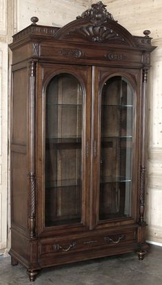antique French Henri II Walnut Armoire - antique armoires - Inessa Stewart's Antiques