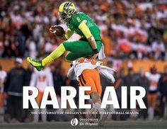 Rare Air: The University of Oregon's Historic 2014 Football Season Cover