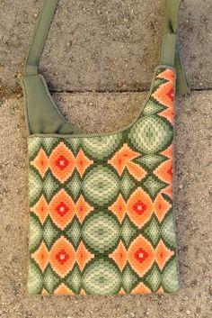 Bargello needlepoint purse, side 2