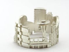 Seattle Cityscape - Skyline Statement Ring Size 5 or 5.5