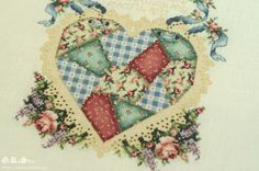 Welcome Friends Patchwork Heart