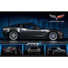 (24×36) Chevrolet Corvette ZR1 Car Art Poster Print