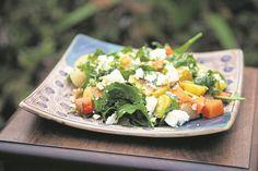 Resep: Winterslaai met geroosterde groente   Netwerk24.com Kos, Feta, Salad, Recipes, Salads, Ripped Recipes, Aries, Lettuce