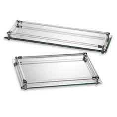 Mirror Vanity Trays - BedBathandBeyond.com