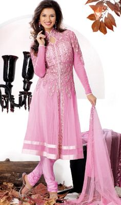 Captivating Deep Pink Chudidar Kameez Price: Usa Dollar $158, British UK Pound £93, Euro117, Canada CA$172 , Indian Rs8532.