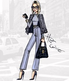 Hayden Williams Fashion Illustrations | Style in the City by Hayden Williams: 'Business...