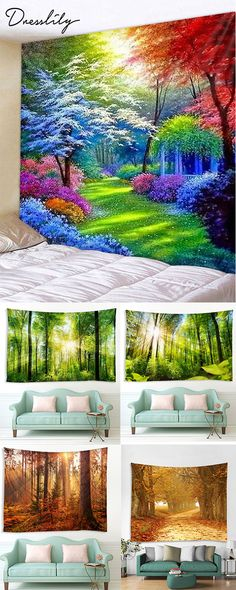 Where To Buy Tapestries, Cool Tapestries, Tapestry Nature, Room Tapestry, Woven Wall Hanging, Tapestry Wall Hanging, Hirsch Wallpaper, Diy Dream Home, Tapestry Online