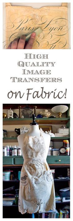 High Quality Image Transfers on Fabric - EASY! Graphics Fairy. This is one of the best Transfer Techniques that I have seen! Perfect for crafts and DIY Home Decor Projects!