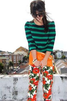 21 Reglas de estilo tan absurdas que ya deberías mandar al diablo Trendy Outfits, Fashion Outfits, Summer Stripes, Navy And Green, Mixing Prints, Pattern Mixing, Color Negra, Krystal, Fashion Sketches