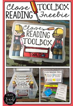 Close Reading Toolbox FREEBIE I am loving this Close Reading Toolbox! It's just perfect for teaching students close reading strategies when given non-fiction passages. The insert helps teach students how to use different tools with informational texts. Reading Lessons, Reading Skills, Guided Reading, Teaching Reading, Reading Quotes, Reading Lists, Teaching Ideas, Reading Resources, Creative Teaching