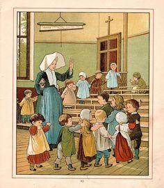 1890 Victorian Print PARIS Children's Book by AntiquarianPrints, $15.00