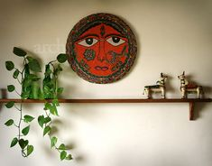 madhubani painting at home...