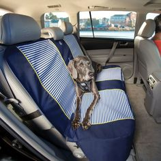 Waterproof Bench Seat Cover for Dogs | Nantucket Stripe