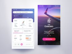 Fly Emirates Book App – User interface by Rifayet Uday