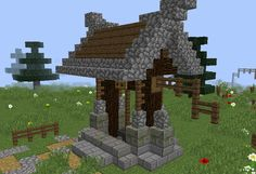 Magic Nordic Draw Well - GrabCraft - Your number one source for MineCraft buildings, blueprints, tips, ideas, floorplans! Minecraft Garden, Minecraft Farm, Minecraft Castle, Minecraft Plans, Minecraft Survival, Minecraft Construction, Minecraft Crafts, Minecraft Designs, Minecraft Interior Design