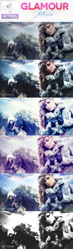 Glamour Photoshop Actions #photoeffect #action Download: http://graphicriver.net/item/glamour-photoshop-actions/7383345?ref=ksioks