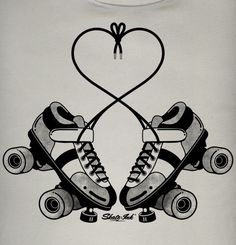 small roller skate tattoo - I would get this but the skates would look like my quads. Roller Derby Skates, Quad Skates, Roller Skating, Roller Disco, Skate Tattoo, I Tattoo, Sister Tattoos, Girl Tattoos, Rollers
