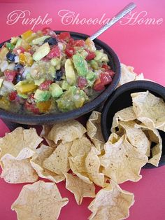 Avocado Salsa - Delicious!! seems a little liquidy at first, but it's perfect!- LS