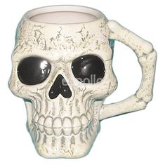 Let your Weird side show at coffee times with this Novelty Skull mug. Crane, Skull Head, Drinkware, Mugs, Skeletons, Skulls, Weird, Times, Shape