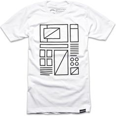 "WIREFRAME T-shirt ""Hierarchy, flow, function, space. How ideas take shape."""