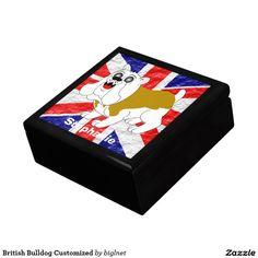 British Bulldog Customized Keepsake Boxes