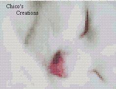 White Kitty Cat Cross Stitch Pattern
