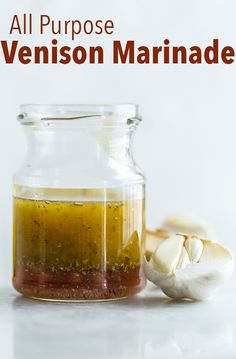 This All Purpose Venison Marinade is healthy, bright and fresh. It's and approved, a Deer Recipes, Wild Game Recipes, Venison Marinade, Deer Steak, Zucchini, Venison Recipes, Easy Dinner Recipes, Dinner Ideas, Healthy Snacks